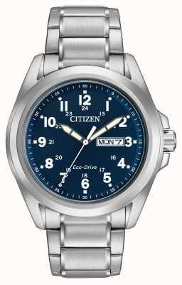 Citizen Gents Eco-Drive Blue Dial Sports Bracelet AW0050-58L