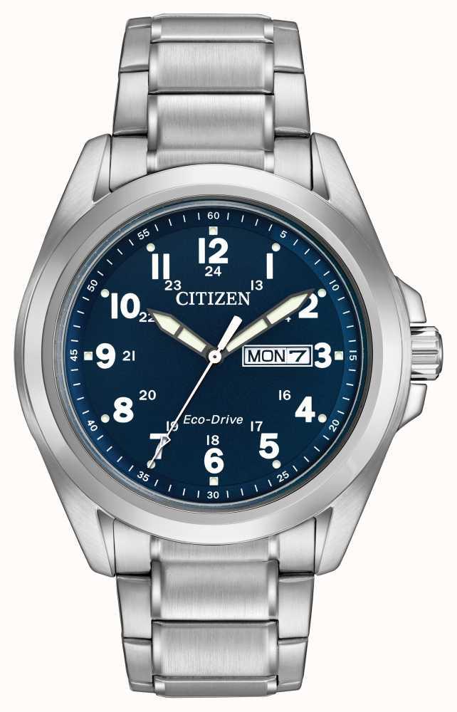 fcdaa4c3b99b6 Citizen Gents Eco-Drive Blue Dial Sports Bracelet AW0050-58L - First ...