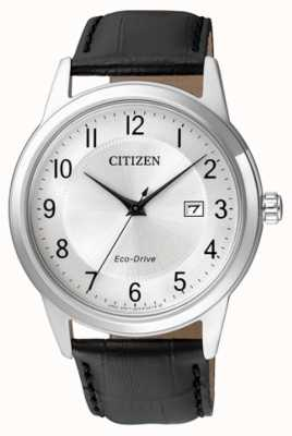 Citizen Mens Eco-Drive Black Leather Strap AW1231-07A