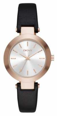 DKNY Womens Stanhope Black Leather Strap NY2458