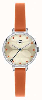 Orla Kiely Ivy Orange Leather Strap OK2013