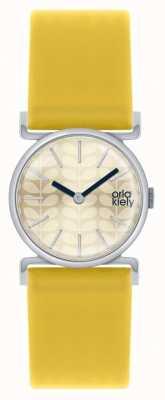 Orla Kiely Cecelia Yellow Leather Strap Champagne Dial OK2021