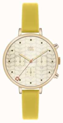Orla Kiely Ivy Chronograph Yellow Leather Strap OK2038