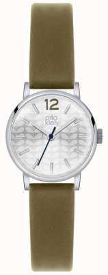 Orla Kiely Frankie Olive Leather Silver Dial OK2045