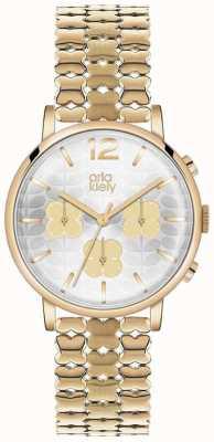 Orla Kiely Frankie Chronograph Gold PVD Plate OK4000