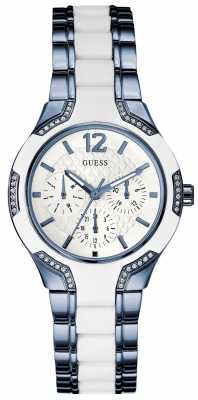 Guess Womens Center Stage White Dial W0556L9