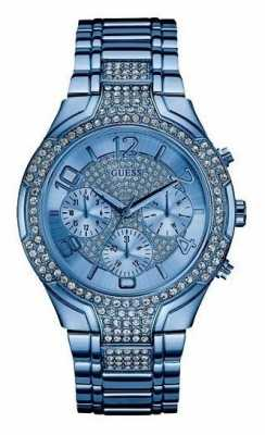 Guess Womens Stellar Blue Stainless Steel W0628L6