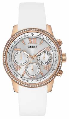 Guess Womens Sunrise White Silicone Strap W0616L1