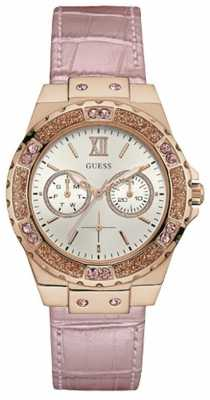 Guess Womens Limelight Pink Leather Strap W0775L3