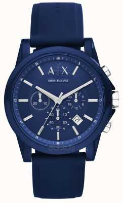 Armani Exchange Chronograph Blue Silicone AX1327