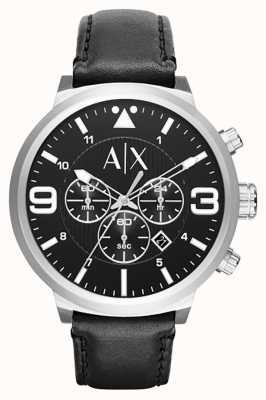 Armani Exchange Mens Urban Black Leather Strap AX1371