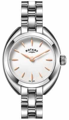 Rotary Womens Thin Metal Strap White Dial LB05013/02