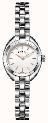 Rotary Womens Thin Metal Strap White Dial LB05013/02