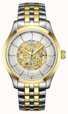 Rotary Mens Two Tone Strap Gold Plated Case GB05033/06