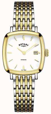 Rotary Womens Two Tone Metal Strap LB05306/01