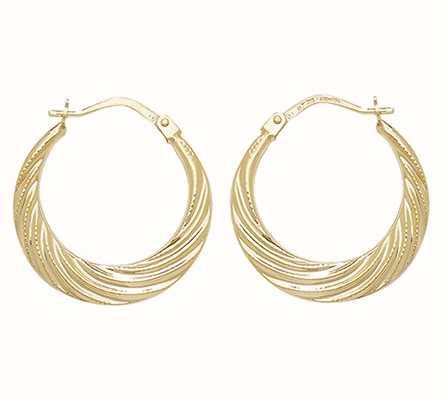 Treasure House 9k Yellow Gold Creole Hoop Earrings ER073