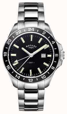 Rotary Mens Havana Stainless Steel GMT GB05017/04