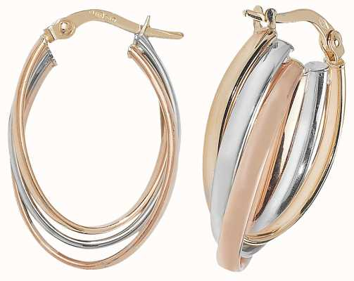 Treasure House 9k Yellow/Rose GOld/White Gold Earrings ER1002