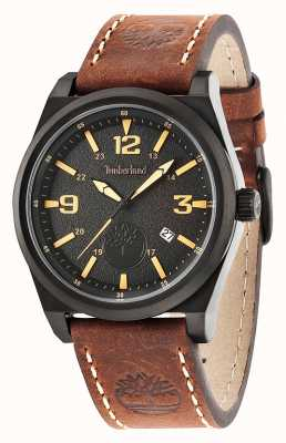 Timberland Mens Brown Leather Strap Black Dial 14641JSB/02