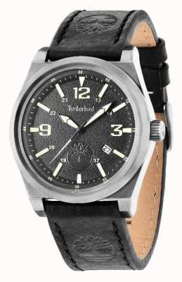 Timberland Black Leather Strap Black Dial 14641JSU/02