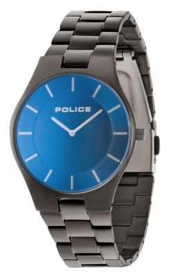 Police Mens Grey Strap Blue Dial 14640MSU/70M
