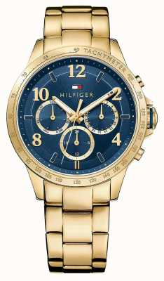Tommy Hilfiger Womens Gold Strap Blue Dial 1781643