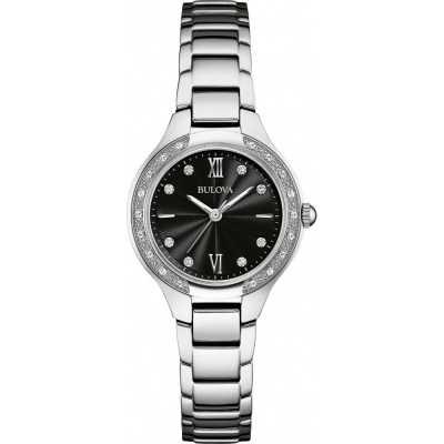 Bulova Diamond Silver Steel Bracelet Watch 96W207