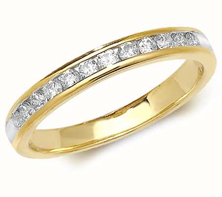Treasure House 9k Yellow Gold Diamond Channel Set Eternity Ring RD571
