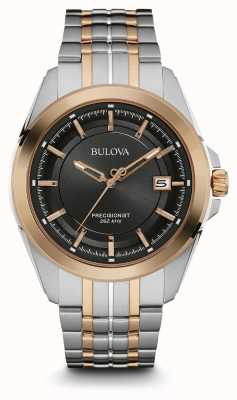Bulova Mens | Stainless Steel Strap | Black Dial | 98B268