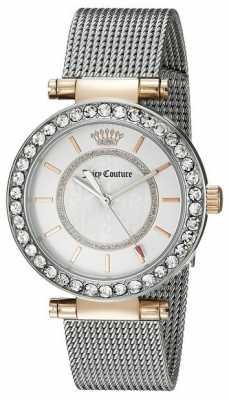 Juicy Couture Womens Silver Plated Strap White Dial 1901375