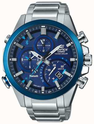 Casio Edifice Bluetooth Sync Tough Solar Smartwatch Blue EQB-501DB-2AER