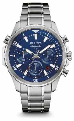 Bulova Mens Marine Star Chronograph Blue Dial 96B256