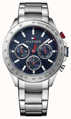 Tommy Hilfiger Men's Hudson Stainless Steel Blue Dial 1791228