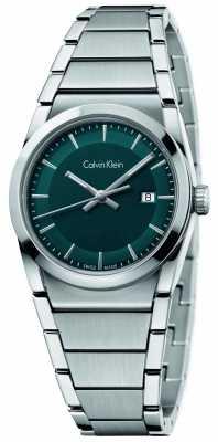 Calvin Klein Womens Step Teal Dial K6K3314L