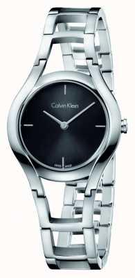 Calvin Klein Womens Class Silver Plated Black Dial K6R23121