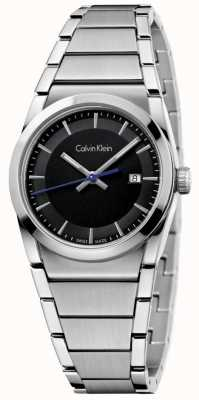 Calvin Klein Ladies Step Watch Black Dial K6K33143