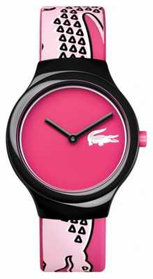 Lacoste Womens Pink Dial Pink Silicone Strap 2020115