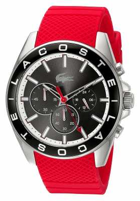 Lacoste Mens White Rubber Strap White Chronograph 2010853