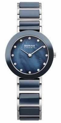 Bering Womens Stainless Steel Navy 11429-787