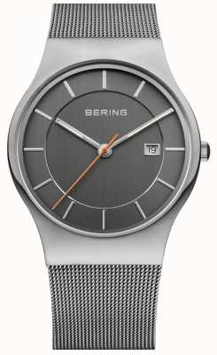 Bering Mens | Stainless Steel Mesh Strap | Grey Dial | 11938-007