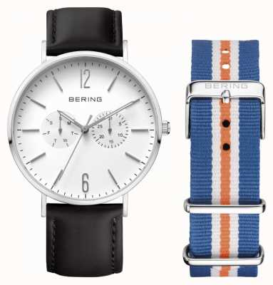 Bering Unisex Leather Strap Double 14240-404