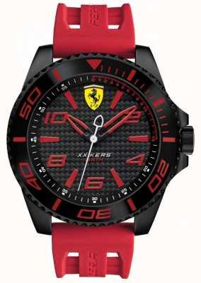 Scuderia Ferrari Mens Red Rubber Strap Black Dial 0830308