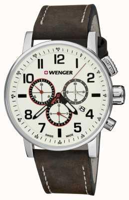 Wenger Mens Attitude Cream Chronograph Dial 01.0343.103