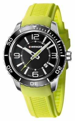 Wenger Mens Roadster Black Dial With Unidirectional Bezel 01.0851.115