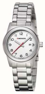 Wenger Womens Filed White Dial Stainless Steel Strap 01.0411.134