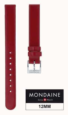 Mondaine Genuine Red Leather Strap Only 12mm FE311230Q