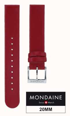 Mondaine Genuine Leather Womens Red Strap Only 20mm FE1622030Q
