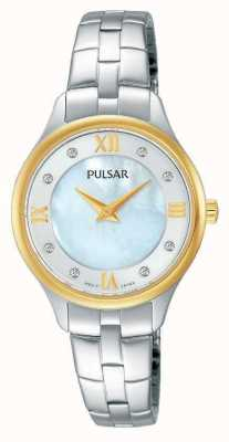 Pulsar Womens Round White Mother Of Pearl Dial PM2198X1