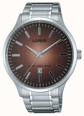 Lorus Mens Stainless Steel Strap Brown Dial RH997FX9