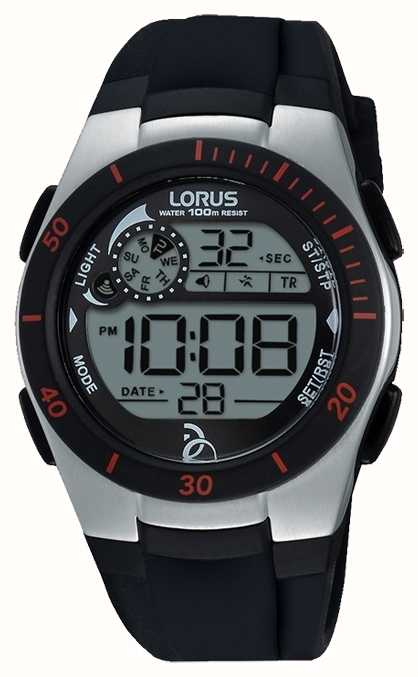 Lorus Novak Foundation Digital Black Silicone Strap R2375kx9 First